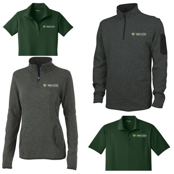 New Ilitch School apparel is now available for online ordering! This year, quarter-zip pullovers and polo shirts will both be available for online purchase. The online store will be open through Nov. 1.