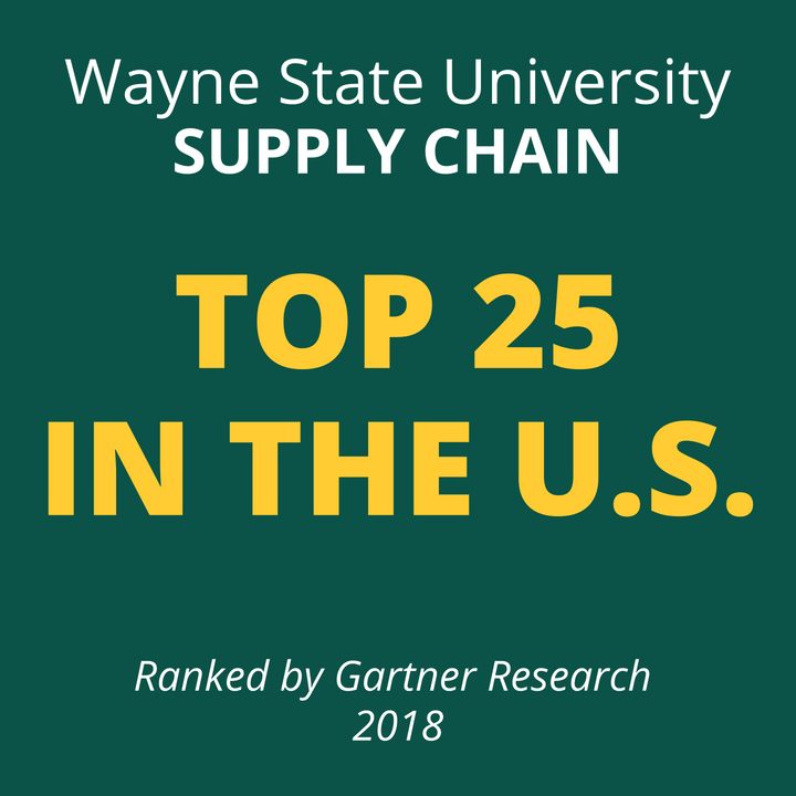 Wayne State's undergraduate and graduate degree programs in global supply chain management were ranked among the nation's top 25.