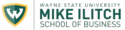 Wayne State University Mike Ilitch School of Business Logo